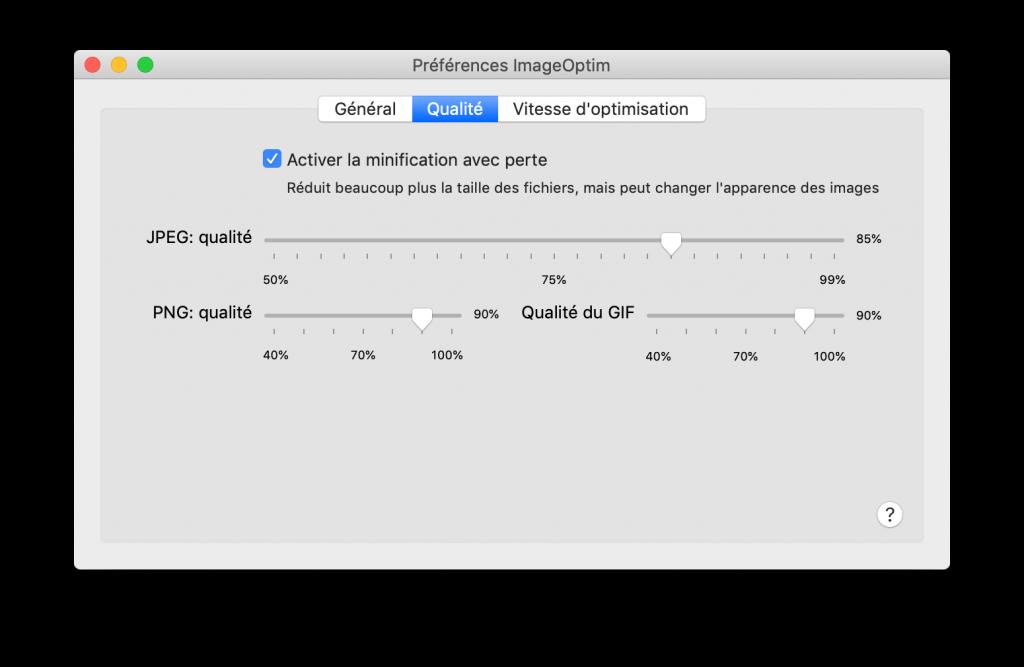 Optimiser les images sur macOs Qualité
