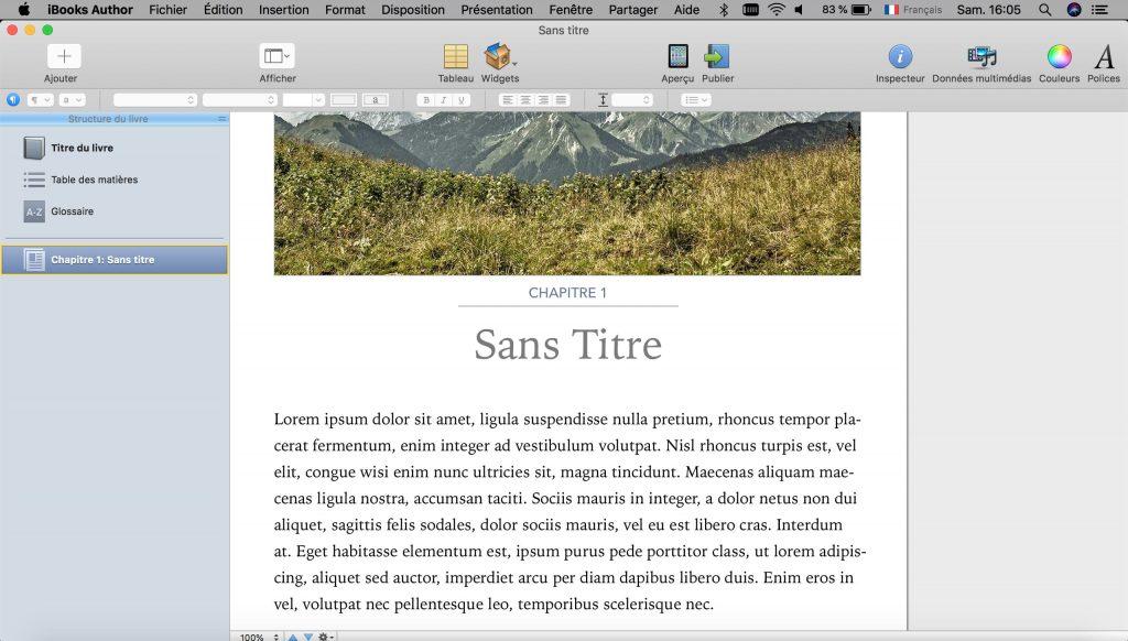 Créer un eBook sur Mac avec iBooks Author