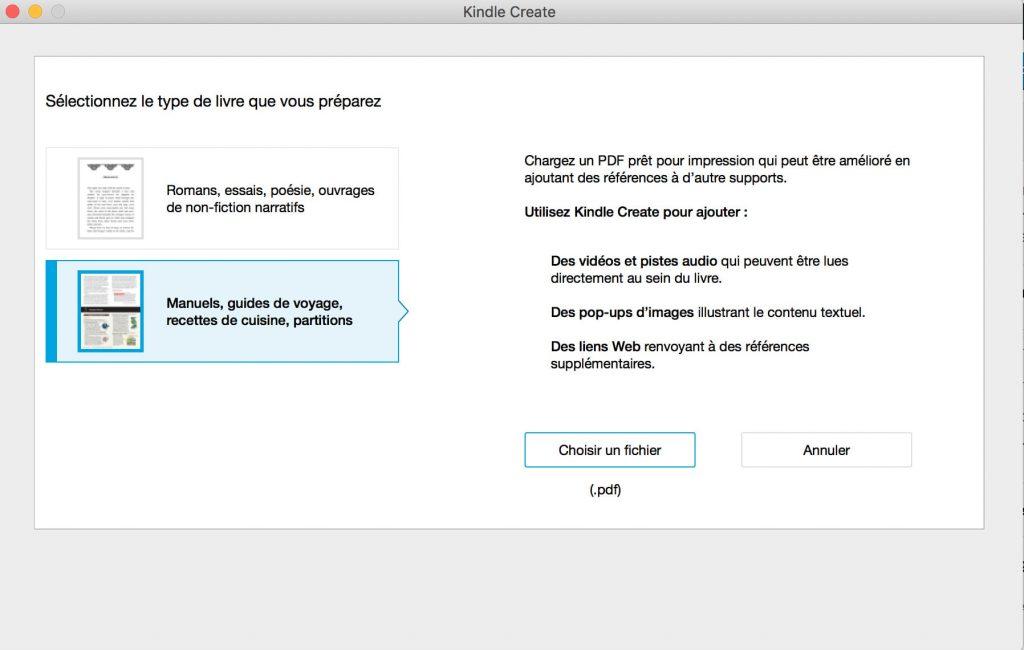 Créer un ebook avec Kindle Create